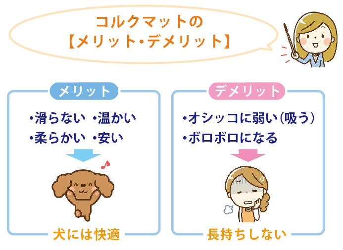 犬とコルクマットのメリットデメリット